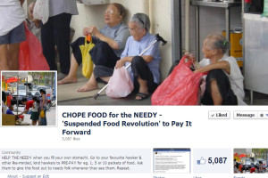 Chope Food for the Needy – Singaporeans Pay it Forward