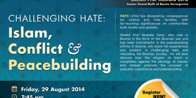#ChallengeHate Event Review with Shaykh Prof Mustafa Ceric