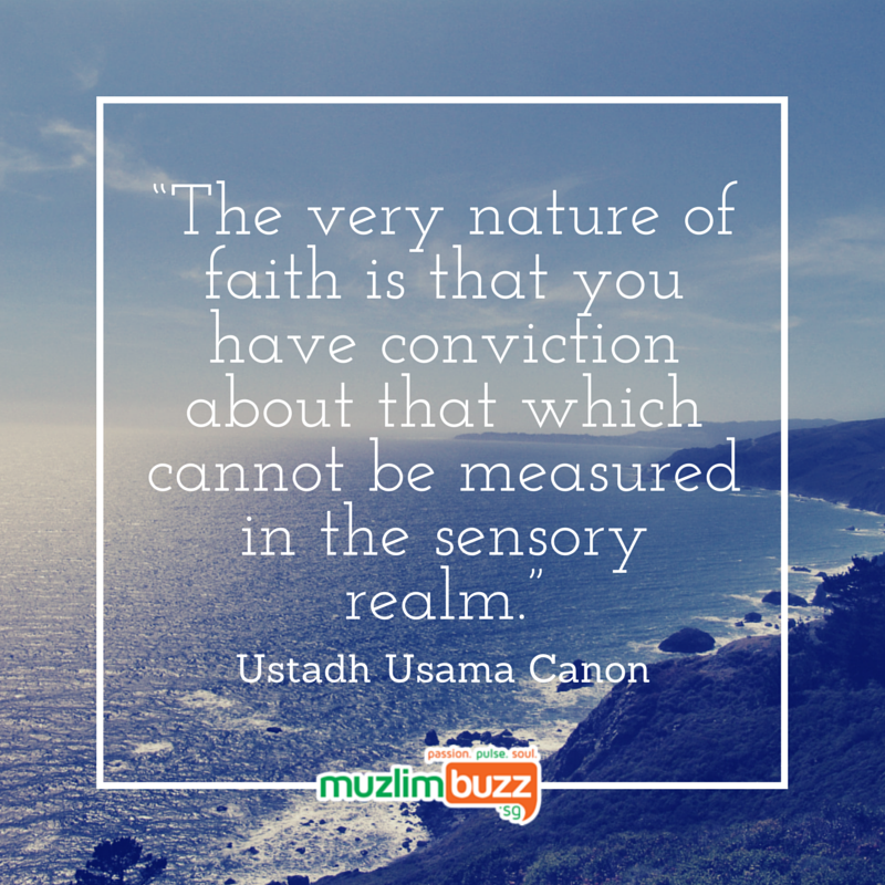 """""""The very nature of faith is that you"""